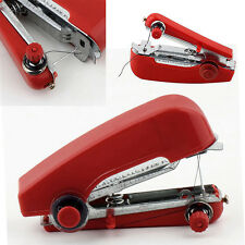 Mini Portable Cordless Hand-held Clothes Sewing Machine Home Travel Stitch Red