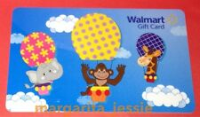 WALMART US NEW 2016 GIFT CARD BABY ANIMALS IN HOT AIR BALLOONS ELEPHANT NO VALUE