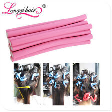 10pieces pack Hair Curling Flexi rods Magic Hair Roller stickers random color