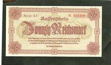 20 Reichsmark Sudeten Niederschlesien 1945 Ro.186 unc./ kassenfrisch