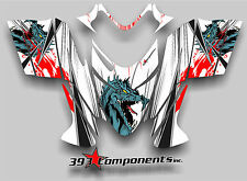 Polaris IQ RMK Shift Dragon Graphics Decal Sticker Kit 2005 - 2012 Dragon Fire