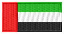 Flag UAE Bandera de EAU Emiratos Árabes Unidos Parche bordado patch