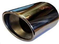 Saab 42499 110X180MM ROUND EXHAUST TIP TAIL PIPE PIECE STAINLESS STEEL WELD ON
