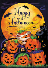 "Happy Halloween Full Moon Flag- Dbl.Sided - FL2916 - Large Size 28"" x 40"""