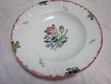 1700s Tin Glazed French Faience Floral Longwy Marseille Ware: Large Bowl B 99