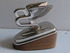 Winged Bentley Car Mascot. 21st Century Mounted Desk Piece.