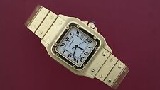 Cartier Santos Mens Solid 18k Yellow Gold Automatic