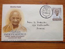 Gandhi India Independence 1st Anniversary Aug 15 1948 Jhansi First Day Cover