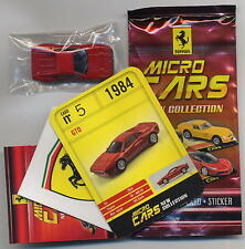 Micro Cars 2015 FERRARI GTO #05 +card+sticker+bag+bpz 1/100 Kyosho MIB