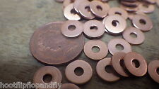 50 x SOLID COPPER WASHERS 8g COPPER HOSE WASHERS FLAT 3mm x 12mm