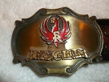 nef. 1980 Ruger Belt Buckle w/ Matching Hand Tooled Leather Ruger Belt