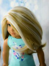 Custom American Girl Doll Wig Rainbow!! HEAT SAFE fits 10-11 inches Gotz Journey