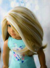 Custom American Girl Doll Wig Rainbow!! HEAT SAFE fits 10-11 inches Gotz Journey