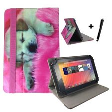 "9.6 inch Case Cover Book For Samsung Galaxy Tab E Tablet - 9.6"" Dog Puppy Pink"