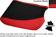 BLACK & RED CUSTOM FITS SUZUKI 350 GOOSE FRONT SLIP ON LEATHER SEAT COVER