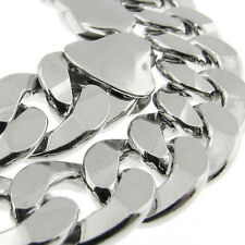 "MADE IN ITALY Curb Link 150 6MM 18"" SOLID FINE 925 STERLING SILVER CHAIN HEAVY!"