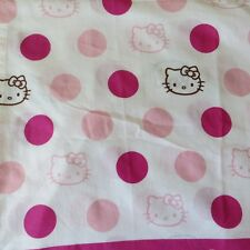 Hello Kitty Single Twin Flat Sheet Pink Polka Dots Cutter Crafts