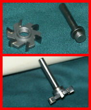 Six Flute Router Blade/Arbor Cue Components Cue Making Building Parts Supplies