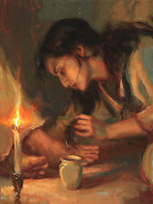 "DANIEL GERHARTZ - "" FORGIVEN- CHRISTIAN ART ON CANVAS - NEW - FRAMED"