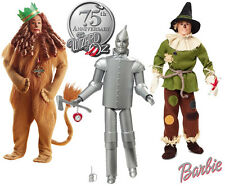 Wizard of Oz Barbie Dolls Set: Scarecrow, Tin Man, Cowardly Lion (New In Boxes!)