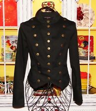 Betsey Johnson VINTAGE Jacket MILITARY Black 2006 RUNWAY Sailor Coat 10 M L
