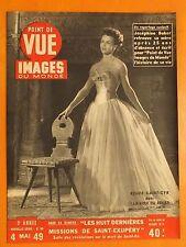 Point de Vue Images 48 du 4/5/1949-Renée Saint-Cyr-Paul Auriol record de vitesse