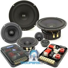 "CDT AUDIO ES-0642i 6.5"" 4"" 250W RMS 3-WAY EXTENDED BASS COMPONENT SPEAKERS NEW"