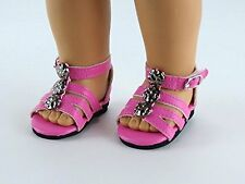 """*Strappy Sandals in PINK - for American Girl & other 18"""" Dolls (Mary Ellen)"""