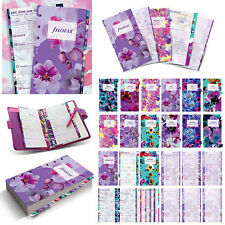 NEW Filofax Personal Floral Illustrated Diary Refill Pack Insert Planner 17-6341