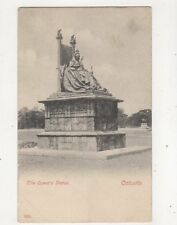 The Queens Statue Calcutta India Vintage U/B Postcard 366b
