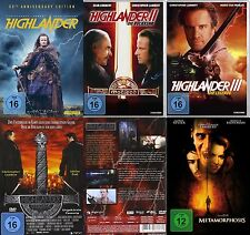 Christopher Lambert HIGHLANDER 1 2 3 4 Saga + METAMORPHOSIS DVD Collection NEU