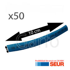 50X Tubo 10 cm Retractil Azul Cable 5 mm diametro aislador termoretractil