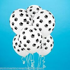 12 Balloons Dog Cat Kitten Birthday Party Puppy Paw Print Paws Animal SPCA