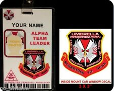 Resident Evil Umbrella Corp  TACTICAL SECURITY INTERVENTION TEAM ID BADGE w/clip