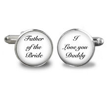 Father-of-the-Bride-CufflinksI love you -mens-jewelry, wedding cuff, daddy girl
