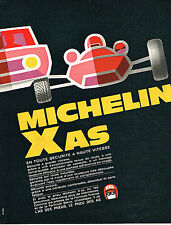 PUBLICITE ADVERTISING 045  1969  MICHELIN  XAS   pneus