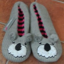 New Slumberzz ladies/girls Koala Bear slippers  grey M 5/6