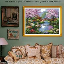 Counted Cross Stitch Kit Embroidery Set 14CT Scenery of Park 57*45cm Home Decor