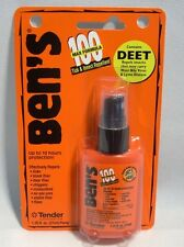 Bens 100 Max Tick Insect Repellent Spray Pump 98% DEET Hunting Camping Fishing