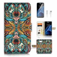 Samsung Galaxy S7 Flip Wallet Case Cover P2770 Aztec