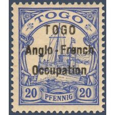 TOGO N°35 TIMBRE POSTE DU TOGO ALLEMAND AVEC SURCHARGE 1914, NEUF*