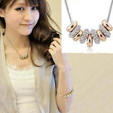 Fashion Women Jewelry Pendant Chain Crystal Choker Chunky Bib Statement Necklace