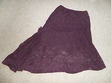 GEORGEOUS BRUSHED LACE SKIRT BY PER UNA IN VG CON SIZE UK 16 R WAIST 30-40""