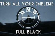 TURN YOUR BMW EMBLEM ALL BLACK - BMW Colored Emblem Roundel Overlay