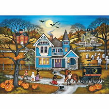 HALLOWEEN by Bonnie White 1000 piece Master Pieces Heartland puzzle - NEW