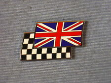 NEW AUSTIN MINI 1100 1300 UNION JACK CHEQUERED FLAG ENAMEL DECAL BADGE