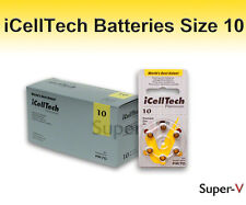 "iCell Tech Size 10 Hearing Aid Batteries (60 Batteries) ""Platinum Package"""