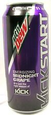 "FULL 16oz  Mountain Dew ""Kickstart Energizing Midnight Grape"" Caffeine USA 2016"