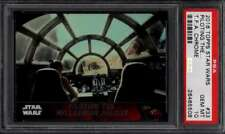 2016 Topps Star Wars Force Awakens Chrome #33 Millenium Falcon Rey Fin PSA 10