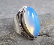 Large 925 Silver Opal OPALITE Ring Sz M 1/2-6.5 R768~Silverwave*uk Jewellery